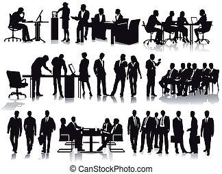 zakenkantoor, mensen