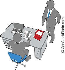 zakenkantoor, mensen, menselijk, evaluatie, middelen