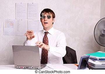 zakenkantoor, werkende , man