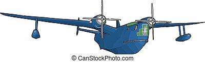 zakenkleur, illustratie, meest, vliegtuig, vector, populair, wereld, of