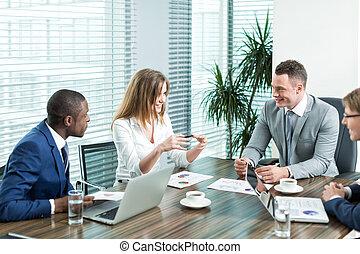 zakenlieden, middelbare leeftijd