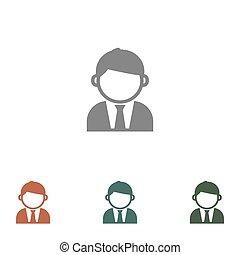 zakenlui, achtergrond, vrijstaand, man, man, pictogram, witte