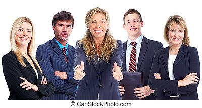 zakenlui, group.