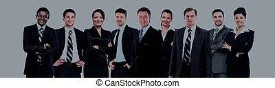 zakenlui, -, jonge, aantrekkelijk, team, elite