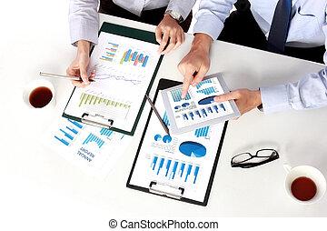zakenlui, op, de, vergadering