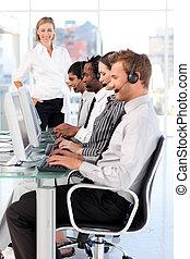 zakenlui, op het werk