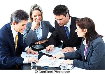 zakenlui, team