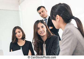 zakenlui, vergadering