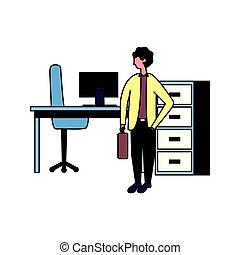 zakenman, aan het werk werkkring