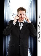 zakenman, beklemtoonde