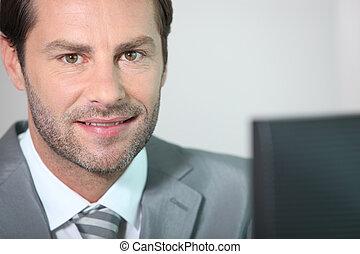 zakenman, close-up