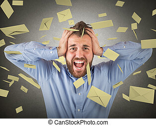 zakenman, en e-mail, spam