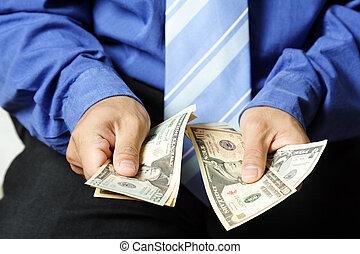 zakenman, en, geld