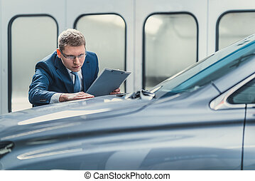 zakenman, garage