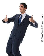 zakenman, het glimlachen
