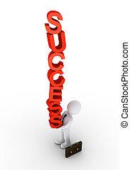 zakenman, het in evenwicht brengen, succes