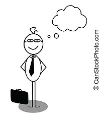 zakenman, idee, mening