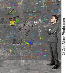 zakenman, idee, nieuw