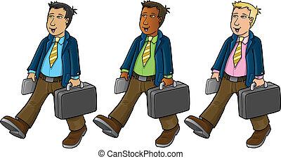 zakenman, illustratie, vector