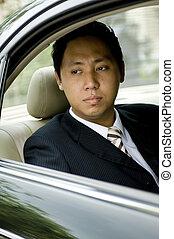 zakenman, in auto