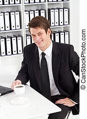 zakenman, kantoor