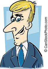 zakenman, karikatuur, spotprent