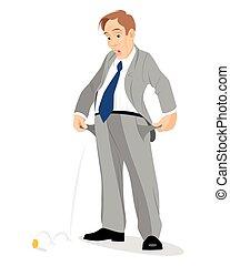 zakenman, lege zakken