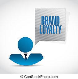 zakenman, merk, concept, trouw, meldingsbord