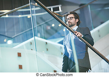zakenman, middelbare leeftijd