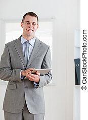 zakenman, opmerkingen, jonge