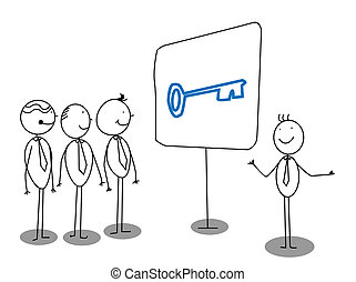 zakenman, presentatie