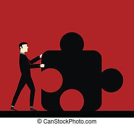 zakenman, samenwerking
