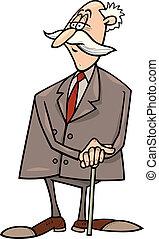 zakenman, senior