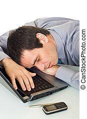 zakenman, slapende