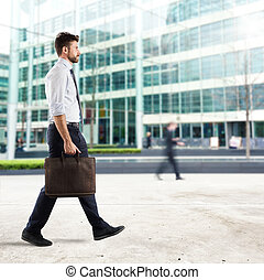 zakenman, stad