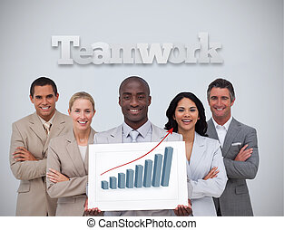 zakenman, statistiek, vasthouden
