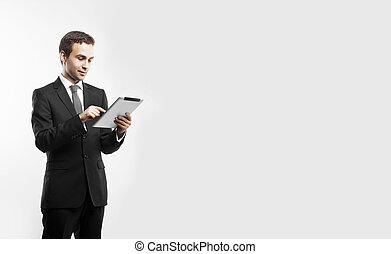 zakenman, tablet