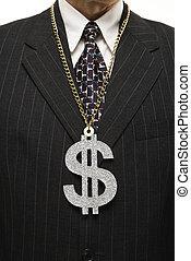 zakenman, teken., dollar