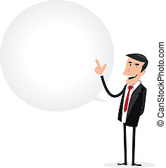 zakenman, tekstballonetje