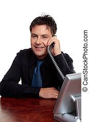 zakenman, telefoon