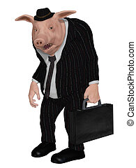 zakenman, varken