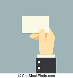 zakenman, vasthouden, kaart hand