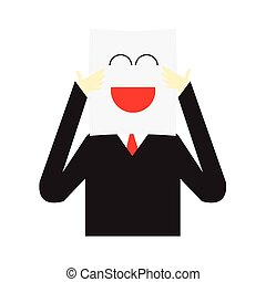zakenman, vector, illustratie