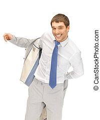zakenman, vrolijke