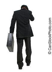 zakenman, wandelende