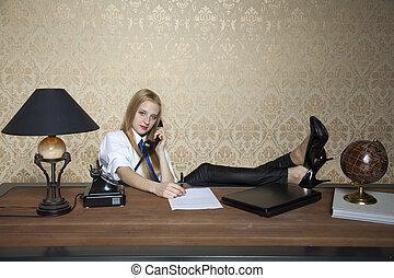 zakenmens , kantoor, werkende