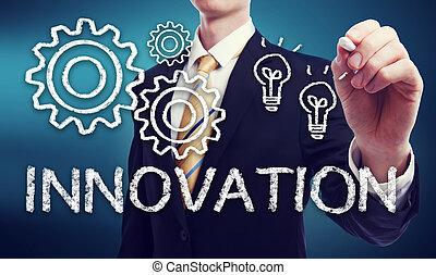 zakenmens , met, innovatie, concept