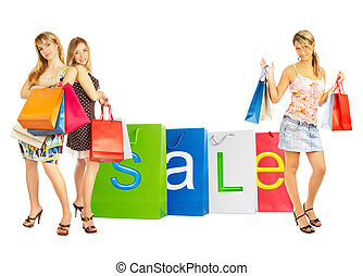 zakken, girls., -, verkoop