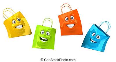 zakken, shoppen