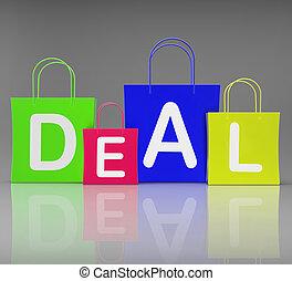 zakken, shoppen , delen, tonen, detailhandel, aankoop
